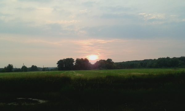 zonsondergang uiterwaarden Doorwerh